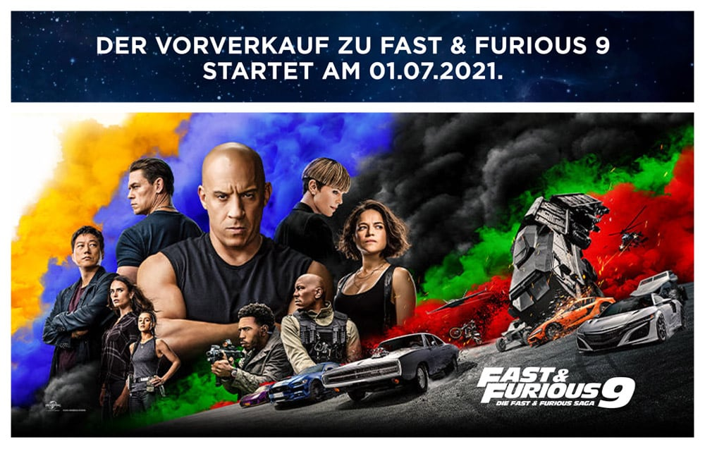 Fast&Furious 9 – Vorverkauf Kino-Willingen